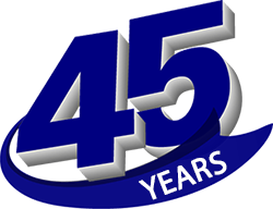 We have been in business for over 45 years