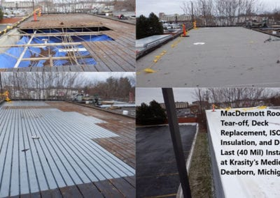 Industrial-Roofing-Deck-Replacement-Krasitys-Medical-Supply-Dearborn-Mi